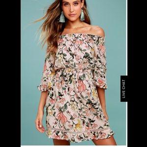 Hello, Darling Blush Pink Floral Print Dress